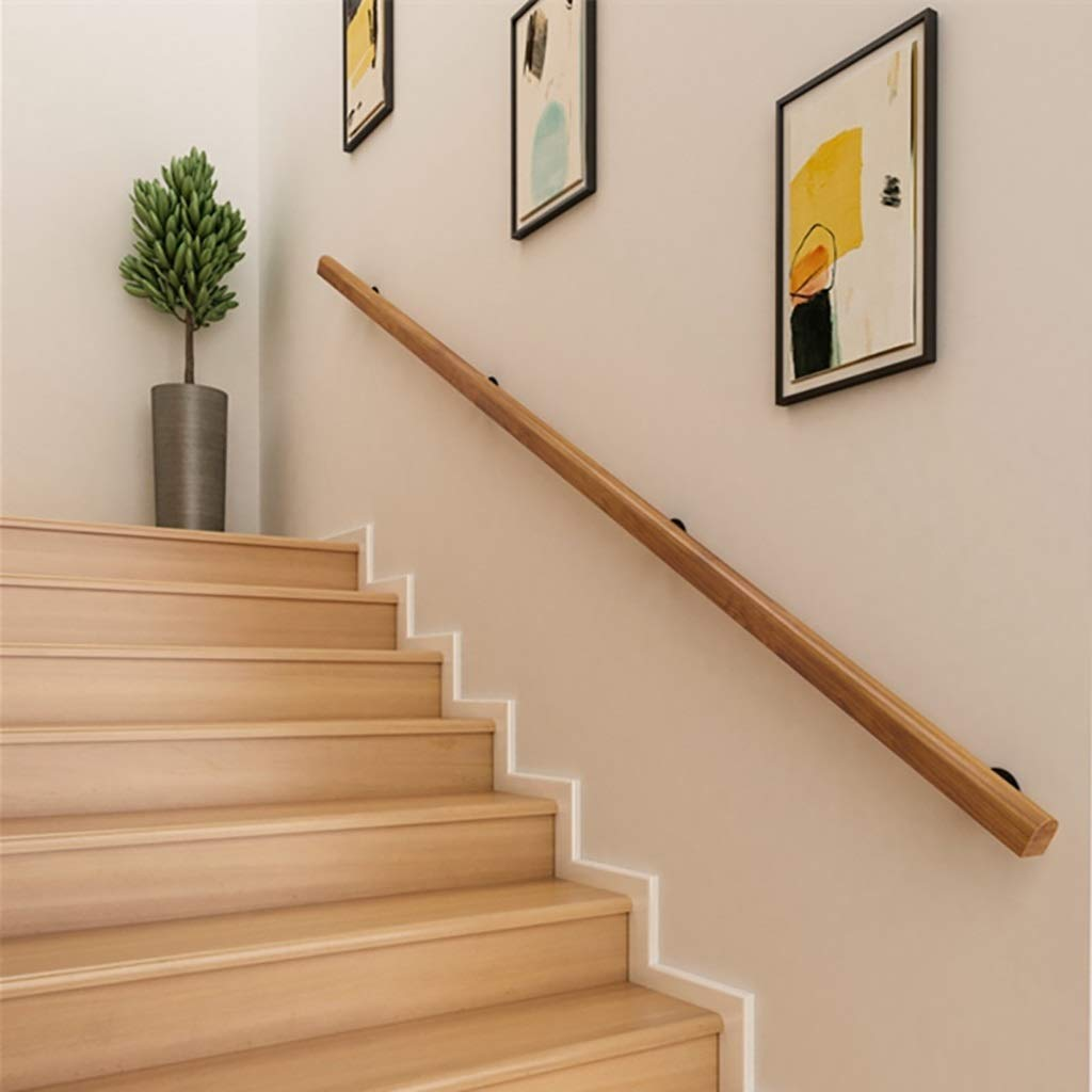 Size : 1ft 1ft-20ft Handrail -Complete Kit Home Kindergarten Old Man Indoor and Outdoor Villa Loft Hospital Corridor Solid Wood Railing Pine Anti-Slip Stair Handrail