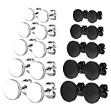Charisma Stainless Steel Round / Triangle Stud Earrings Pierced Tunnel for Men Women, 3mm-8mm Available
