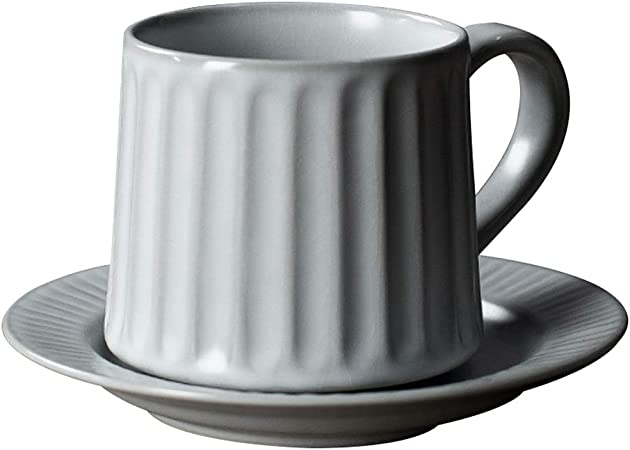 Water Tazas de te Grandes Juego de Taza y platillo de café para té, Taza Romana,