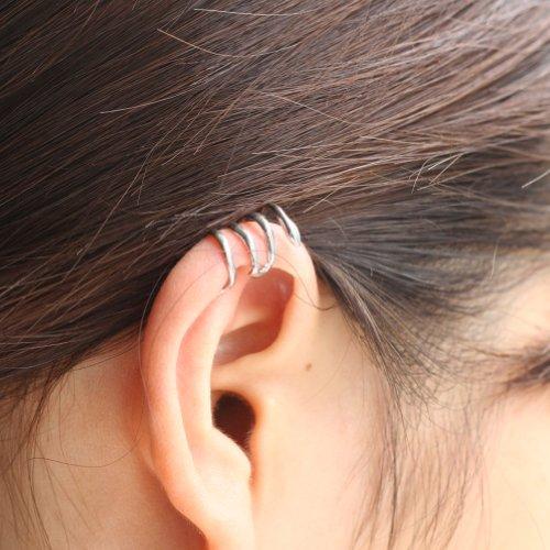 RHX HOT! New Silver Snake Curve Cartilage Ear Cuff Wrap Clip Earring Goth Punk Rock
