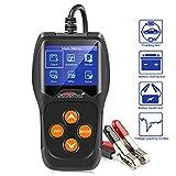 KONNWEI KW600 Car Battery Load Tester 12V 100-2000 CCA 220AH Professional Automotive Alternator Digital Analyzer Waveform Voltage Test Tool for Vehicle/Boat/Motorcycle