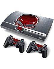 Funky Planet PS3 Fat PlayStation3 Fat Designfolie Sticker Skin Set für Konsole + 2 Controller by (red Skull)