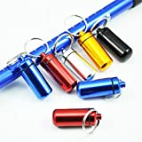 BOSOMEE New Portable Waterproof Mini Blue Aluminum Keychain 3 pcs random