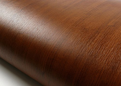 ROSEROSA Peel & Stick Backsplash Embossed Cherry Wood Contact Paper Self-adhesive Wallpaper Shelf Liner Table Door Reform (PF610(4040-2) : 2.00 Feet X 6.56 Feet) (Cherry Wallpaper)