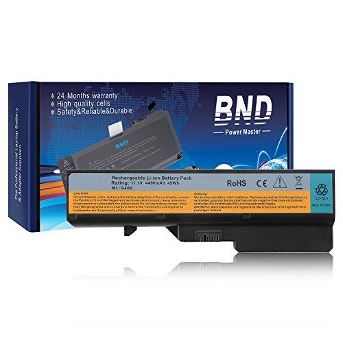 BND Laptop Battery for Lenovo IdeaPad G460 G560 Z560 Z565 Z656, fits P/N L09S6Y02 L10P6Y22 - 12 Months Warranty[6-Cell 4400mAh/49Wh]