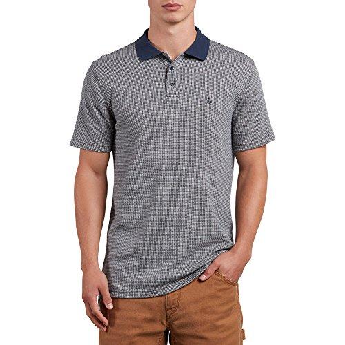 (Volcom Men's Wowzer Plaid Polo Shirt, Stone, S)