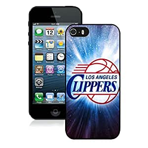 New Custom Design Cover Case For iPhone 5s Generation L.A. Clippers 3 Black Phone Case