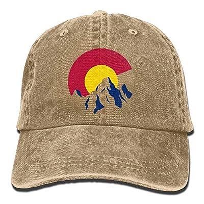 Colorado Rocky Mountain Vintage Washed Denim Caps Adult Adjustable Baseball Hat for Men Women 21951