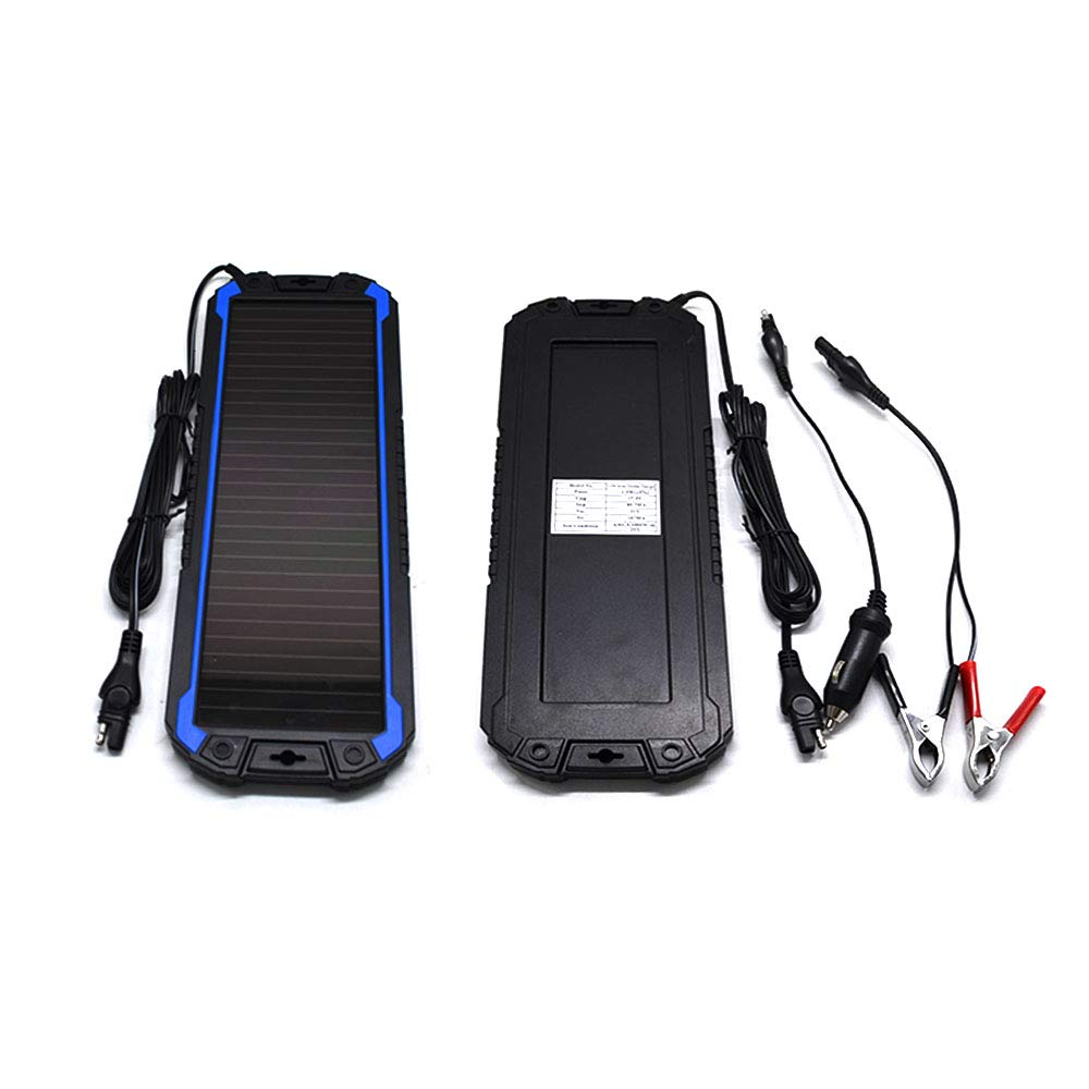 POWEREZ Solar Car Battery Charger 12V Battery Trickle Charger Maintainer Solar Panel Power Charger Portable Backup For RV Motorcycle Boat Marine Trailer Tractor Powersports ATVs Snowmobile