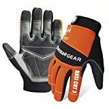 Valeo Industrial V710 ThermaGear Cold Weather ANSI Cut 3 Gloves, VI9543, Pair, Orange, Medium