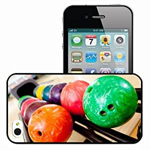Personalized iPhone 4 4S Cell phone Case/Cover Skin Bowling Balls Rack Black