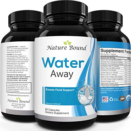 Water Away Supplement for Fast Bloating and Swelling Relief Pure Natural Diuretic Pills Reduce Water Retention Support…