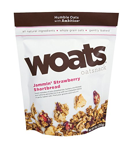 WOATS Oatsnack Jammin' Strawberry Shortbread 4-Pack (Strawberry Shortbread)