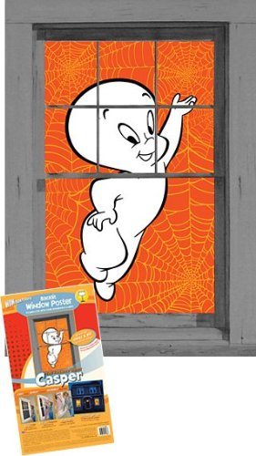 WOWindow Posters Casper the Friendly Ghost Halloween Window Decoration 34.5