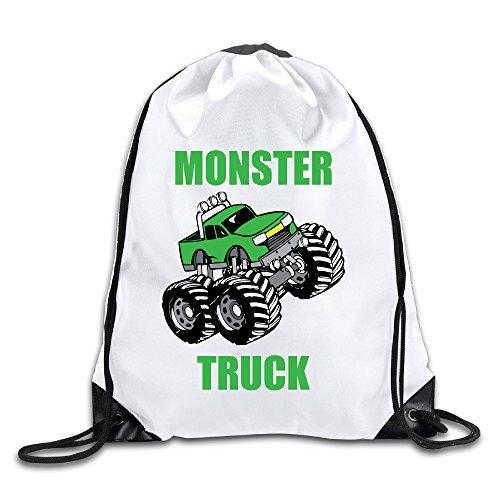 Hunson - Cool Monster Truck Training Gymsack Drawstring Sling Backpack For Men & Women -