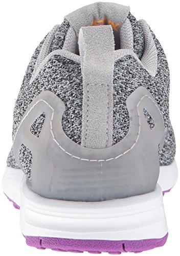 Adidas Originali Da Donna Zx Flux W Scarpa Da Corsa Mgh Grigio Solido / Lgh Grigio Solido / Arancione Neon