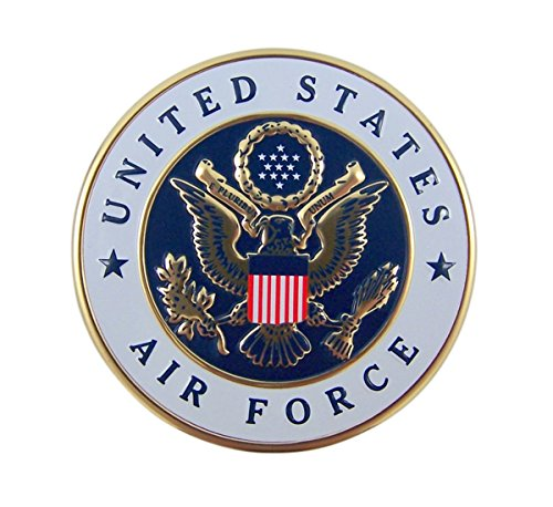 - United States Air Force Military Metal Auto Decal Emblem, 2 Inch