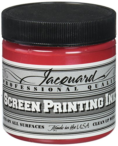 Opaque Screen Printing - Jacquard JAC-JSI1126 Screen Printing Ink, 4 oz, Opaque Red