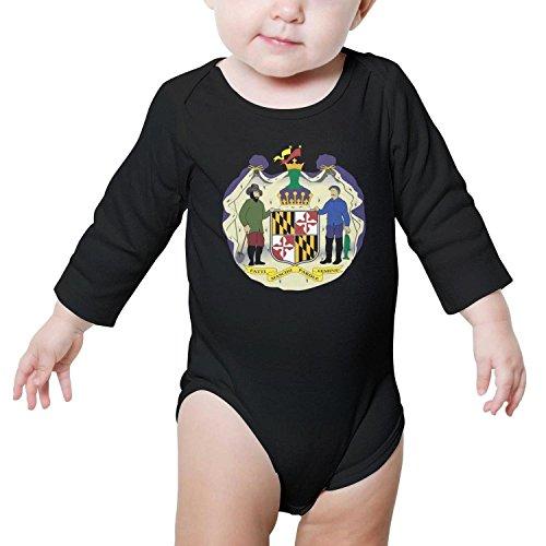 TylerLiu Maryland State Flag Unisex Baby Boys Girls Onesie Bodysuit Soft Comfortable