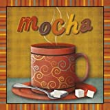 Mocha by Studio, Sd Graphics- Fine Art Print on CANVAS : 24 x 24 Inches