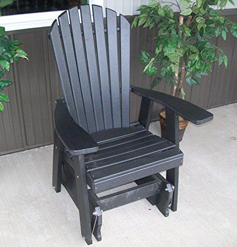 Furniture Barn USA Poly 2 Ft Single Adirondack Glider Chair