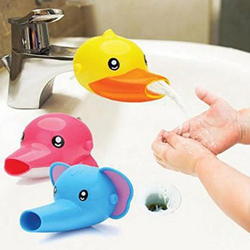 Jeeke Kids Faucet Extender,Sink Faucets Animal Spout Extenders Soft And Durable (Color (Conventional Spout)