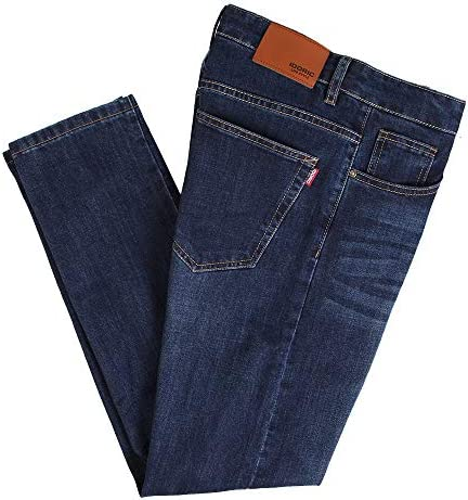 IDORIC Men Stretch Slim Fit Straight Comfort Denim Jeans