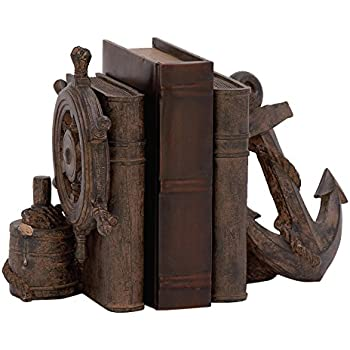 "Deco 79 76787 Nautical Bookend, 8"" by 9"""