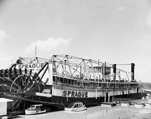 Paddleboat in a river Sprague Poster Print (24 x 36) by Posterazzi