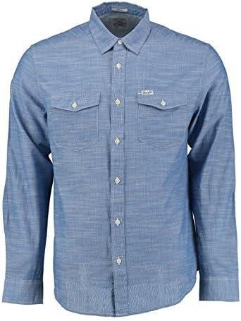 Wrangler L/S 2PKT Flap Shirt Limoges Camisa, XXL para ...