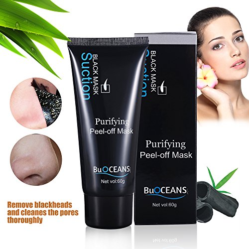Peel Off Mask, Blackhead Facial Mask, Blackhead Remover Black Mask Deep Clean Mask , Premium Quality Mask Purifying Deep Cleansing Acne Resist Oily Skin Strawberry Nose Tearing style Cleansing Mask Image
