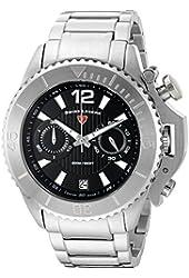 Swiss Legend Men's 'Scorpion' Quartz Stainless Steel Automatic Watch, Color:Silver-Toned (Model: 14019SM-11)