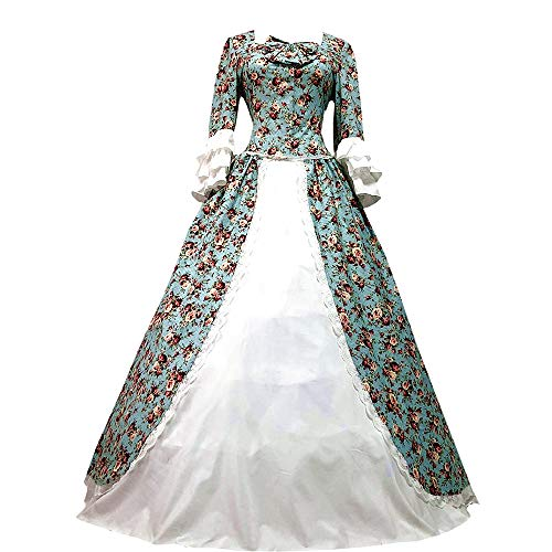 I-Youth Womens Victorian Gothic Queen Lolita Dress Ball Gown Steampunk Costume (S, Floral)]()