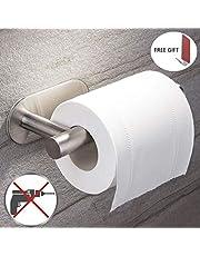 Toilettenpapierhalter Ohne Bohren-Aitere Selbstklebend Toilettenpapierrollenhalter Edelstahl Klopapierhalter Wc Halter Rollenhalter Papierhalter für Küche und Badzimmer(Haken als Geschenk)