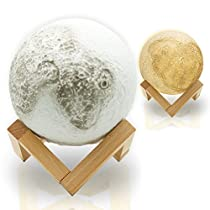 Abida 月のランプ ベッドサイドランプ 3D立体効果 インテリア テー...