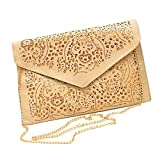 Top Shop Womens Envelope Chain Totes Messenger Shoulder Bags Handbags Hobos Beige Clutches