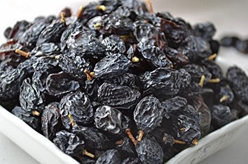 4 Pound (1816 grams) Dried grapes black color Grade A from Xinjiang (新疆葡萄干黑色) by JOHNLEEMUSHROOM RESELLER