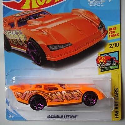 Hot Wheels Art Cars 2/10, Orange Maximum Leeway 325/365 50TH Anniversary Card: Toys & Games