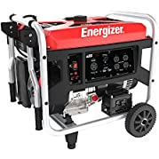 Energizer EZG7250, 6500 Running Power 7250 Peak Power, Portable, Heavy Duty, Gas Powered Generator, CARB Approved