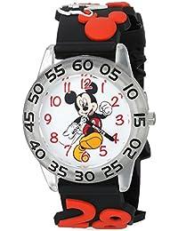 Boy's 'Mickey Mouse' Quartz Plastic Casual Watch, Color:Black (Model: WDS000512)