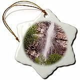 3dRose Bob Kane Photography Waterfall - Cascade Falls 02 - 3 inch Snowflake Porcelain Ornament (orn_119992_1)