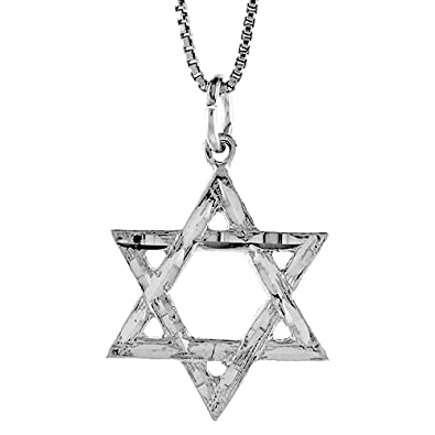 Amazon sterling silver star of david pendant 78 inch jewelry sterling silver star of david pendant 78 inch aloadofball Image collections