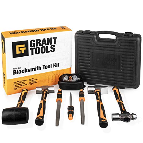 Grant Tools 8-Piece Blacksmith Tool Kit | With Each Kit Sold 1 Solar Light is Donated to a Child Abroad in Need via Extend The Day