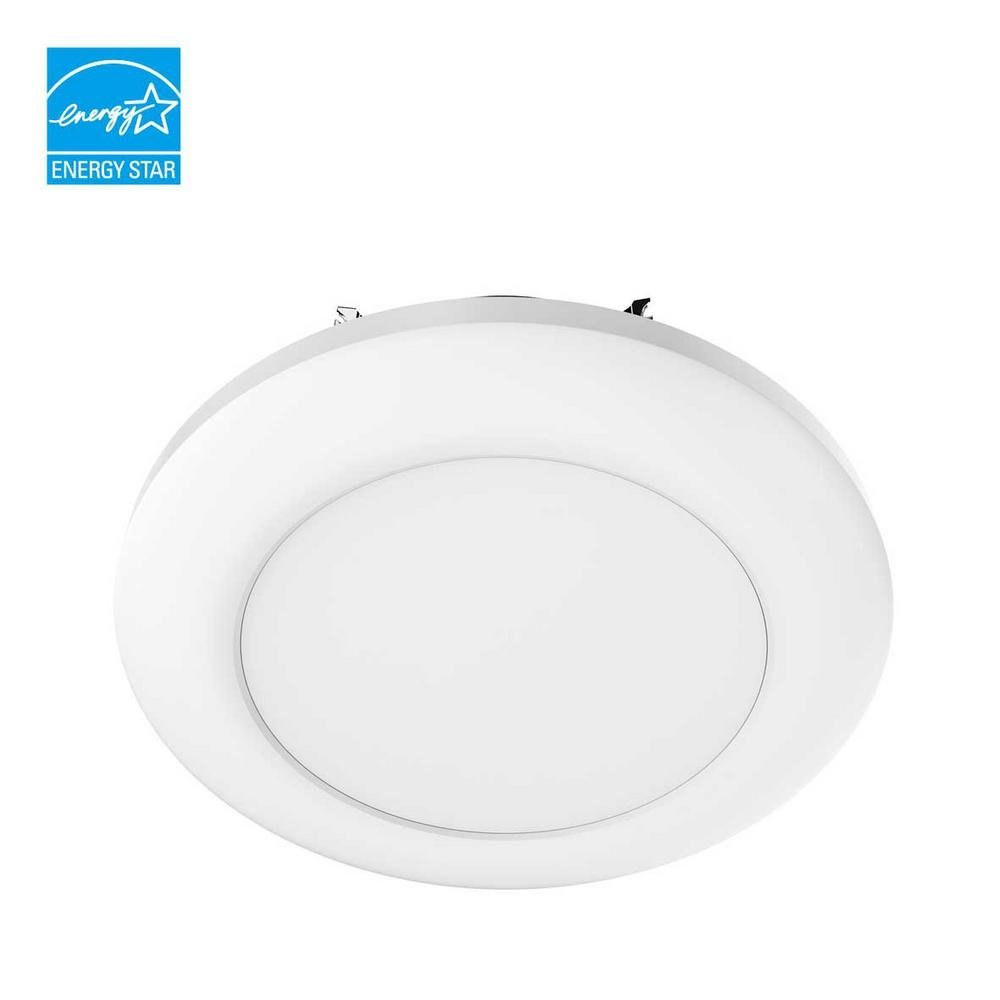 QTY 1 / Commercial Electric 5 in. and 6 in. White Recessed LED Disk Light