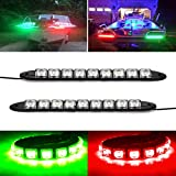 Boaton Green and Red LED Light Boat Bow Pontoon Kayak Yacht Navigation LED Lighting Red Green Light for Marine Boat Vessel IP67 Waterproof