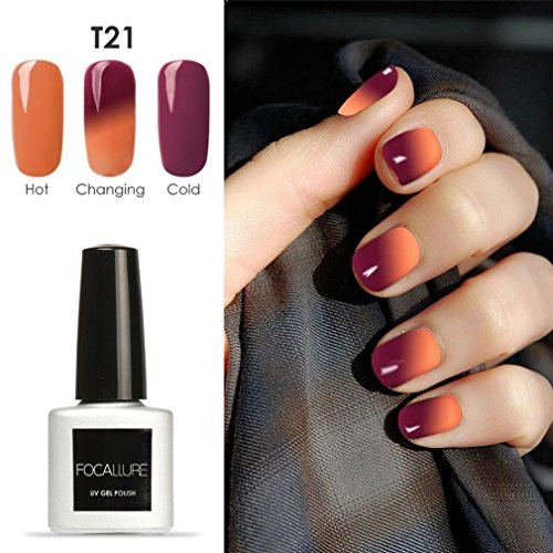 Oksale® 7ML Temperature Change Gel Nail Polish Nail Art Gel Polish UV LED Gel/30 Colors (T21)