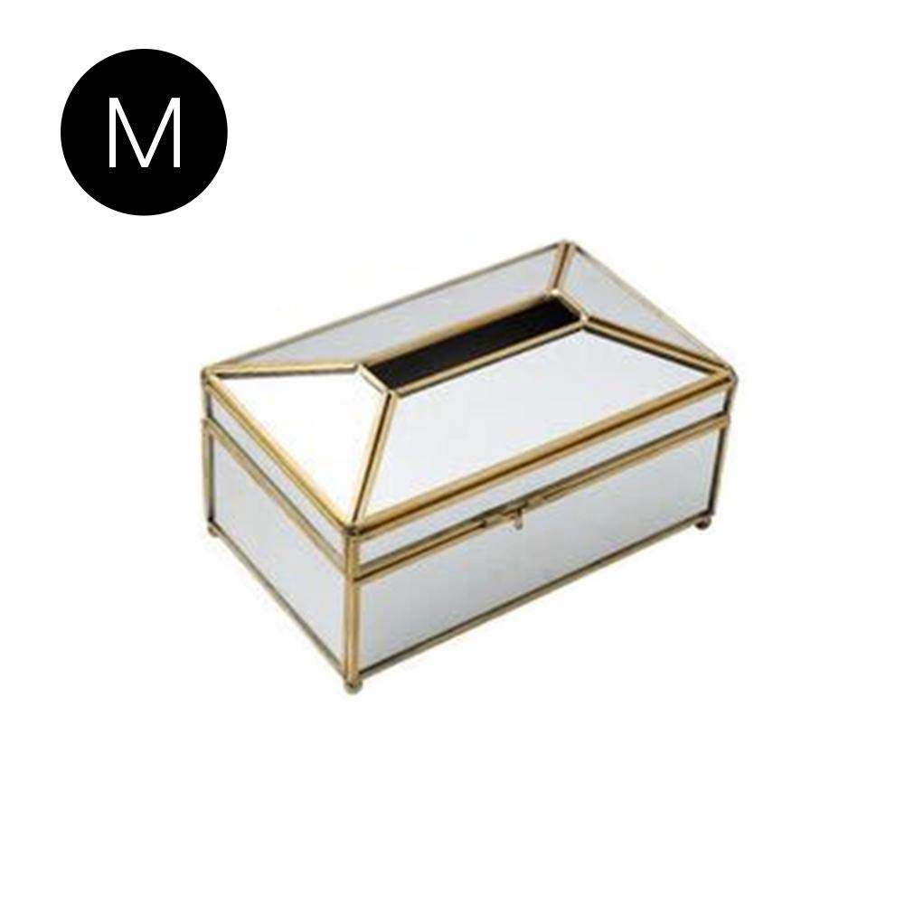rec/ámara Transparente A Organizador de pa/ñuelos de Cristal para Comedor Medium decoraci/ón vestidor Knowled Caja de Almacenamiento para servilletas de Papel