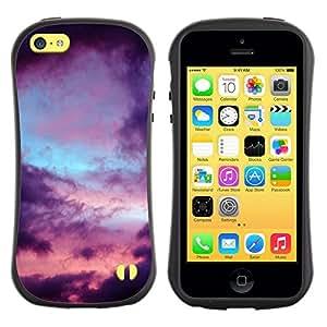 "Pulsar iFace Series Tpu silicona Carcasa Funda Case para Apple iPhone 5C , Nubes Talante Rain Sad"""
