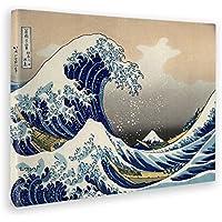 GIALLO BUS - Quadro - Stampa su Tela Canvas - Hokusai - The Great Wave of Kanagawa