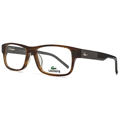 83bdedc3f1d Lacoste L2660 Glasses in Brown Horn L2660 210 53  Amazon.co.uk  Clothing